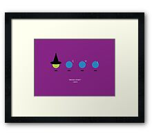 Elphaba and the Blue Man Group Framed Print