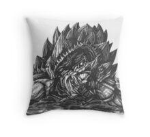 Giant Snapping Dragon Turtle Throw Pillow