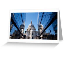 New and Old St Paul's Greeting Card