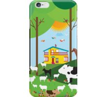 Farm in the forest iPhone Case/Skin