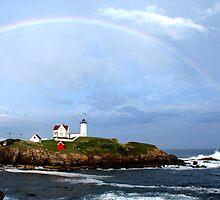Rainbow over Nubble Lighthouse by Robbin269135