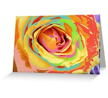 Rose Multicolors. Greeting Card