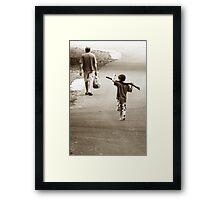 Boys & Sticks Framed Print