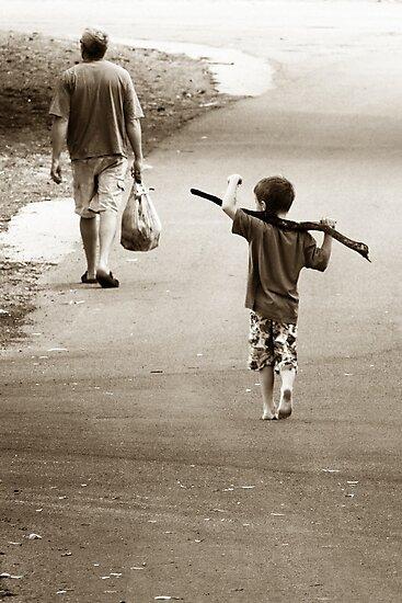 Boys & Sticks by Trish Woodford