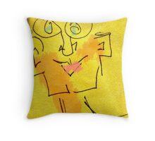 Sir Alan Doodleman Throw Pillow