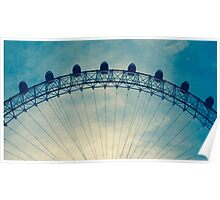 Top of the London Eye Poster