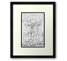 Italy-Rome - St. Peters Interior view Framed Print