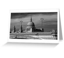 Black and White St Paul's Greeting Card