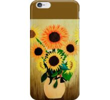 Sunflower in Vase Painting iPhone Case/Skin