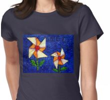 The paper windmills Womens Fitted T-Shirt