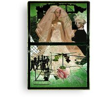 The Barbie Bride Stripped Bare By Her Bachelors, Even Canvas Print