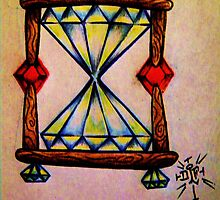 Diamond hour glass by EDLFDESIGNS