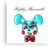 Flammable Toy Bonnie Canvas Print