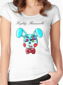Flammable Toy Bonnie Women's Fitted Scoop T-Shirt