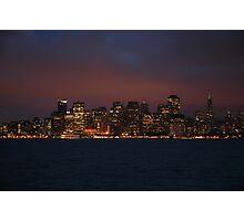 San Francisco Night Skyline Photographic Print