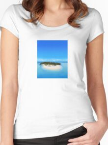 Bacardi Island in Samana Bay, Dominican republic Women's Fitted Scoop T-Shirt
