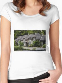 Chocolate Box Cottage Women's Fitted Scoop T-Shirt