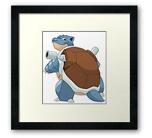 #09 Blastoise Pokemon Framed Print
