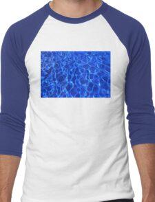 Water ripples and mozaic background Men's Baseball ¾ T-Shirt