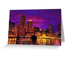 Boston Harbor Greeting Card