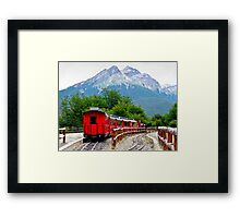 The End of the World Train Framed Print