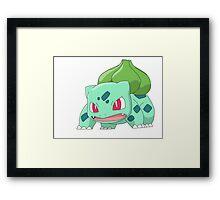 #01 Bulbasur Pokemon Framed Print