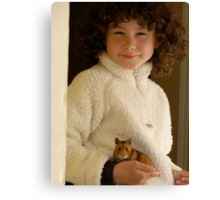 One Girl and her Hamster Canvas Print