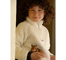 One Girl and her Hamster Photographic Print
