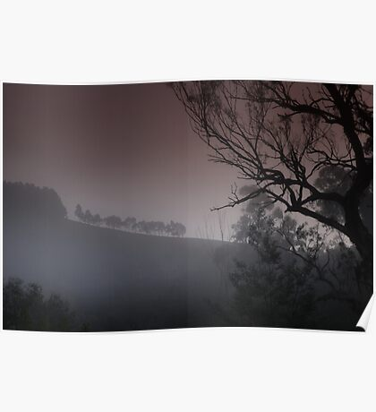 Weather Station - Howes Creek - Foggy Morning Poster