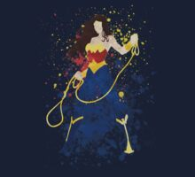 Superheroine Splatter Art Kids Tee