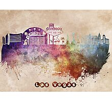 Las Vegas skyline art Photographic Print