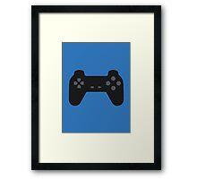 PlayStation Controller Black Framed Print