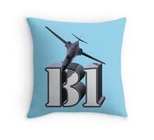 B-1 Lancer Strategic Bomber Throw Pillow