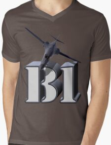 B-1 Lancer Strategic Bomber Mens V-Neck T-Shirt
