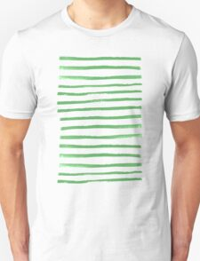 Simple Stripes - Fern Unisex T-Shirt
