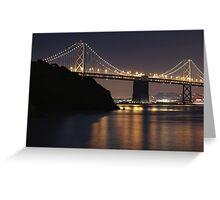 SF Bay Bridge Purple Edition Greeting Card