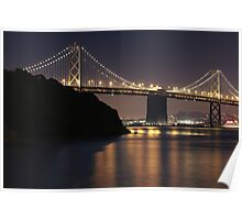 SF Bay Bridge Purple Edition Poster
