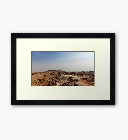 Badlands National Park .4 Framed Print