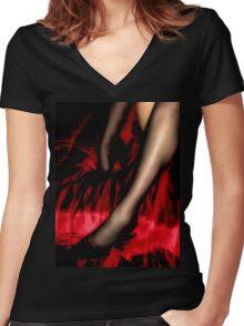 Lucky Stockings Women's Fitted V-Neck T-Shirt
