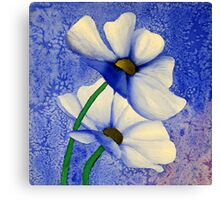 Cosmea Flower Painting Canvas Print