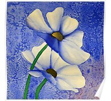 Cosmea Flower Painting Poster