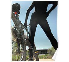 Black Zentai and Bike 5 Poster