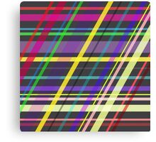 Colourful Summer Fun Trippy Crossing Lines Canvas Print
