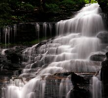 Upper Part of the Ganoga Waterfalls-Rickets Glen State Park by BigD