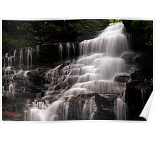 Upper Part of the Ganoga Waterfalls-Rickets Glen State Park Poster