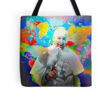 Stylized world map with Pope Francis 12 06 2015 Tote Bag