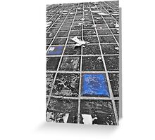 Blue Tiles from Tron Greeting Card