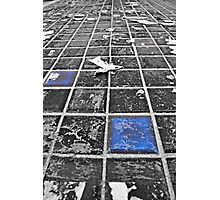 Blue Tiles from Tron Photographic Print