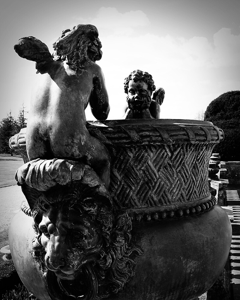 Bare Behind Cherub Lion Riders by witchlyn