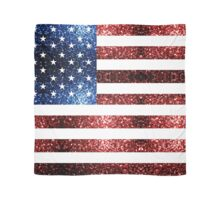 USA flag red & blue sparkles Scarf